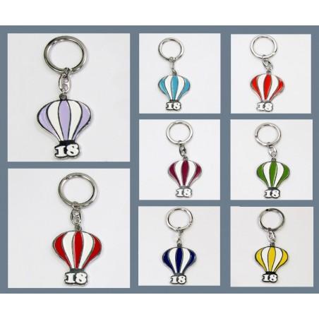 Porta chiavi metallo smaltato MONGOLFIERA 8 colori