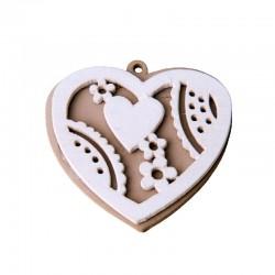 Applicazione in legno cuore pezzi 12