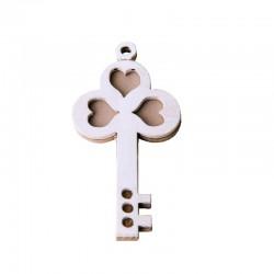 Applicazione in legno chiave pezzi 12