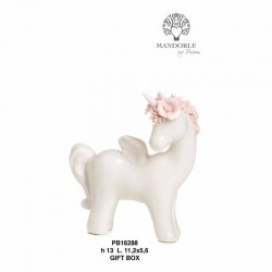 UNICORNO 13 CM. PORCELLANA-G.BOX