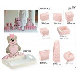 VASSOIO 435X290X45 TED BEAR.ROSA