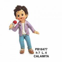 RAGAZZO CANTANTE 7 CM. RESINA-CALAMITA