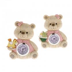 BABY WOOD CLOCK CM 11 S/2 ROSA      2/48