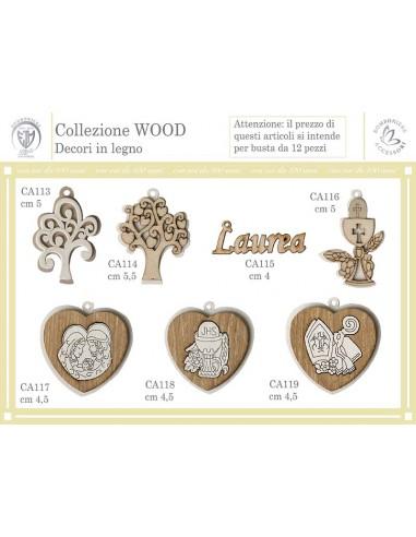 Collezione Wodd decori in legno alberi